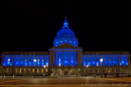 San Francisco City Hall in Blue